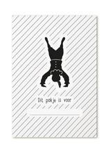 Zoedt Minikaartje met tekst 'Dit pakje is voor...' met pietje
