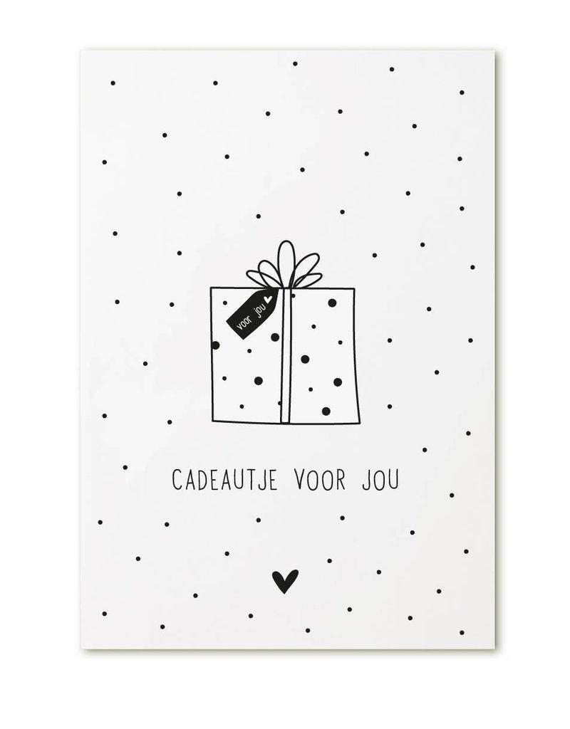 Zoedt Minikaartje met tekst 'Cadeautje voor jou'