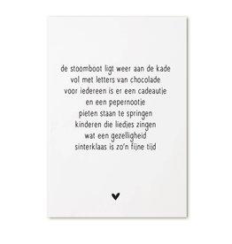 Zoedt Kaartje met Sinterklaas gedicht