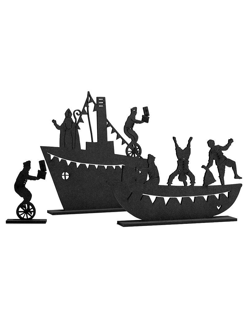 Zoedt Stoomboot met sint en piet van mdf