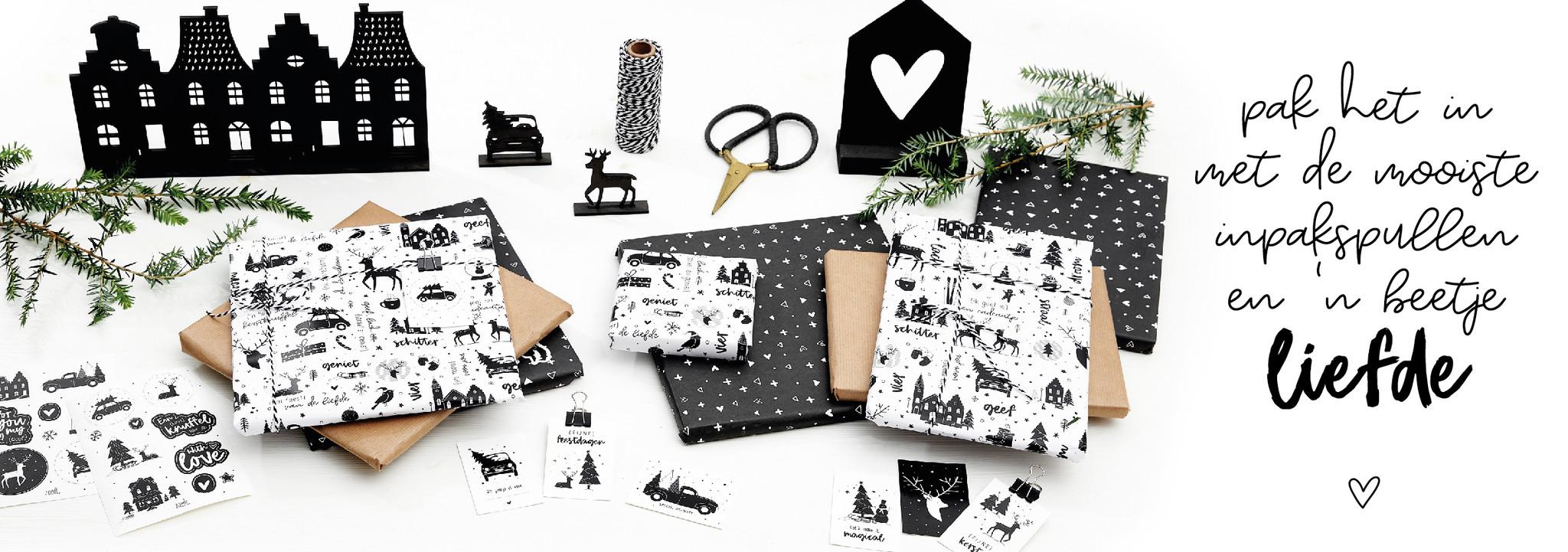 Inpakpapier kerst