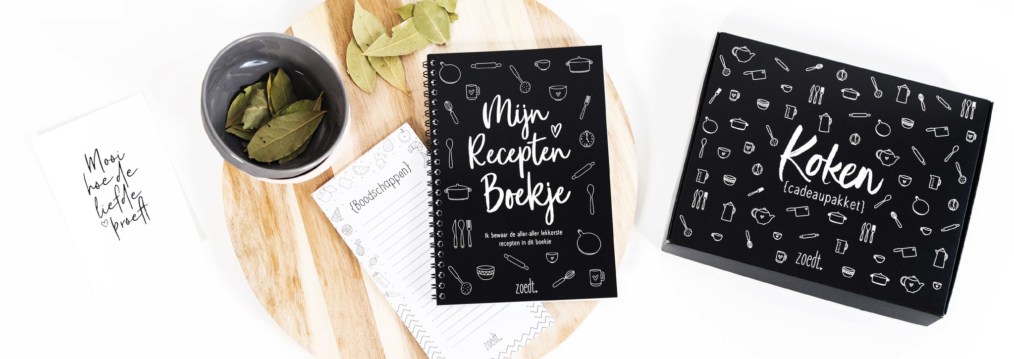 kook cadeau receptenboek cadeaupakket