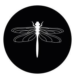 Zoedt Muurcirkel (binnen) zwart met Libelle - 30cm