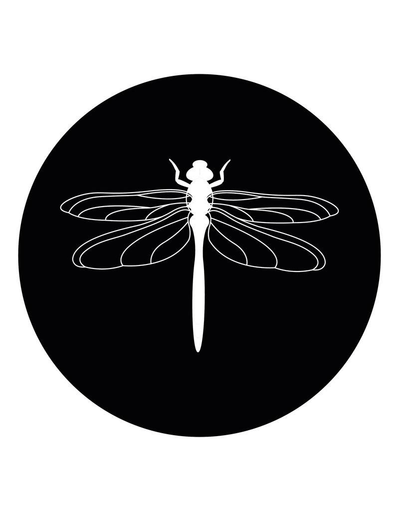 Zoedt Muurcirkel zwart met Libelle  - voor binnen