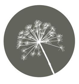 Zoedt Muurcirkel olijfgroen met berenklauw - in 2 formaten