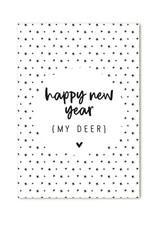 Zoedt Minikaartje Happy new year - my deer