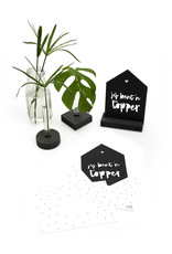 Zoedt Zwarte kaart huisje 'Jij bent 'n topper'  met bedrukte envelop