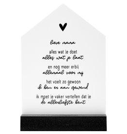 Zoedt Cadeaupakket: Lieve mama: huisje met gedicht voor de allerliefste moeder