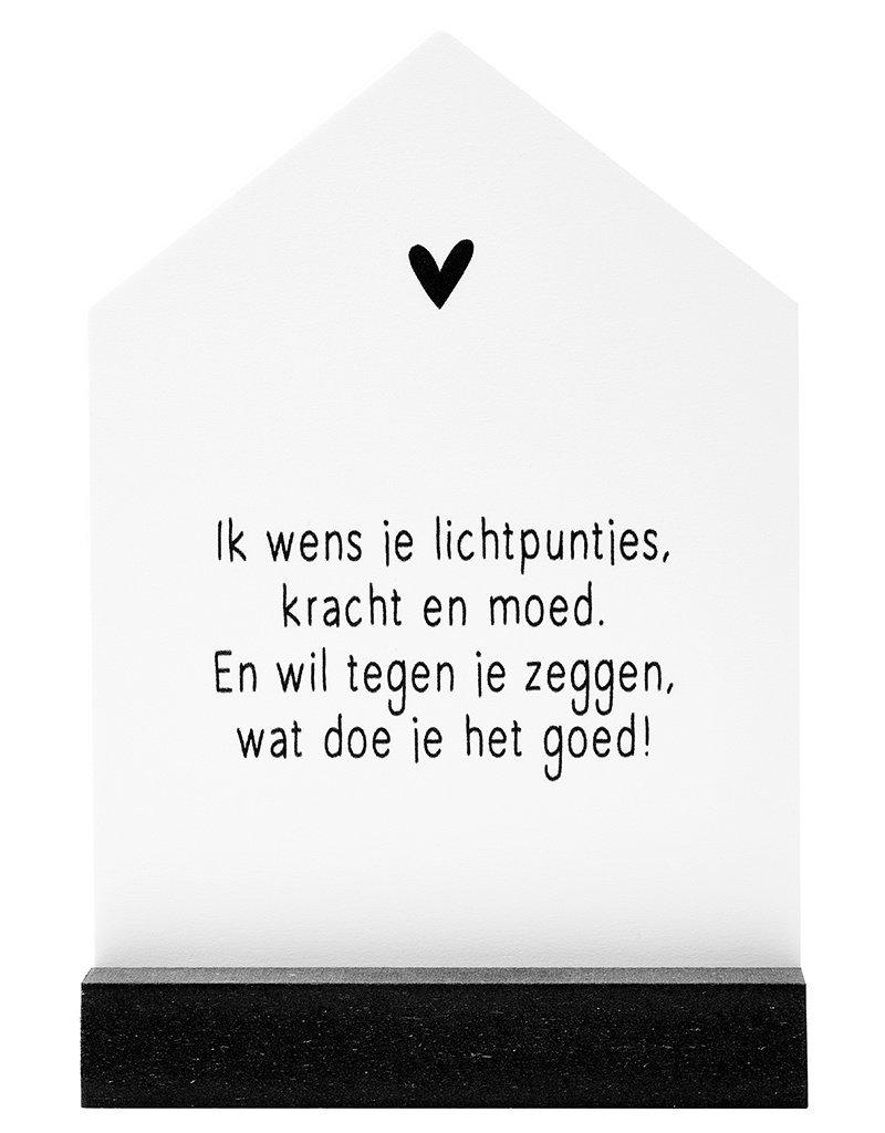 Zoedt Huisje met gedicht 'Ik wens je lichtpuntjes...' in cadeauverpakking - Veel sterkte