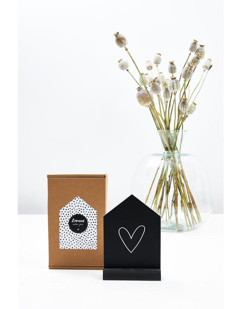 Zoedt Cadeaupakket Huisje met hartje in cadeauverpakking - Zomaar