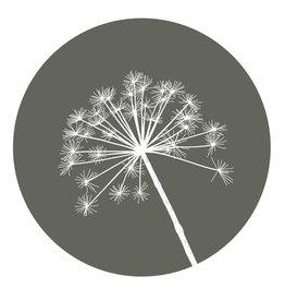 Zoedt Muurcirkel (binnen) olijfgroen met berenklauw - LICHT BESCHADIGD