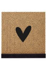 Zoedt Poster kurk vierkant met hartje en dots patroon 20 cm