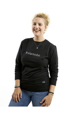 Zoedt Zwarte sweater met tekst #relaxmodus