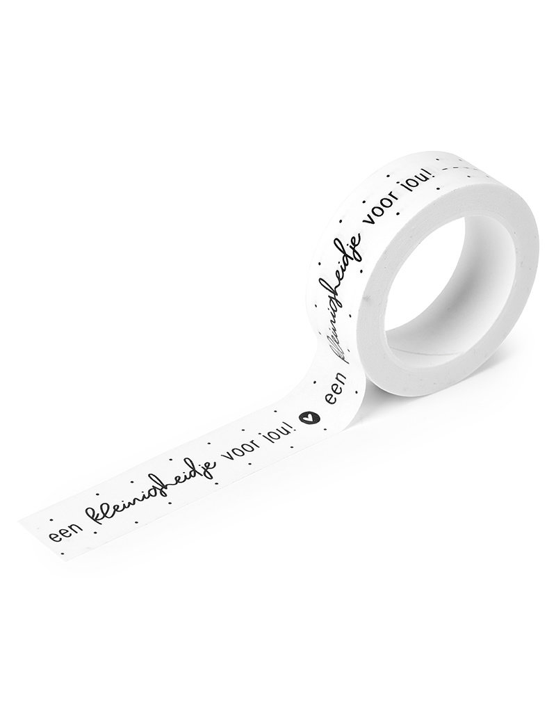 Zoedt Masking tape wit met zwarte tekst 'Een kleinigheidje voor jou!'