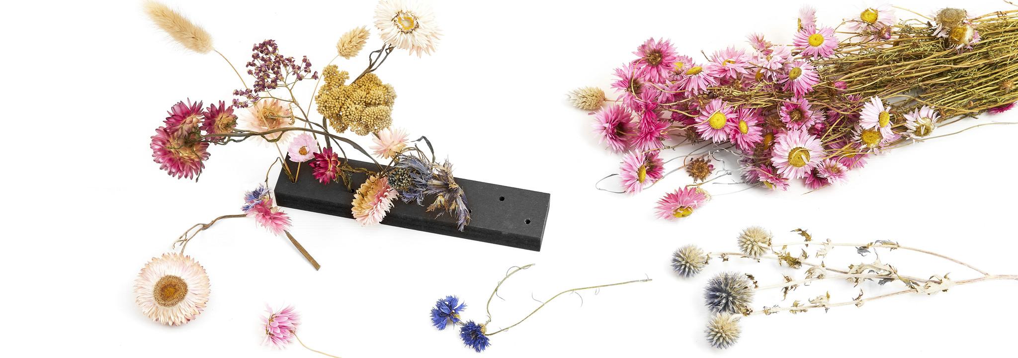houten droogbloemen standaard