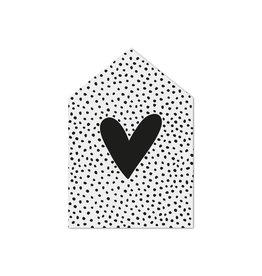 Zoedt Cadeaukaartje huisje met hartje en dots patroon
