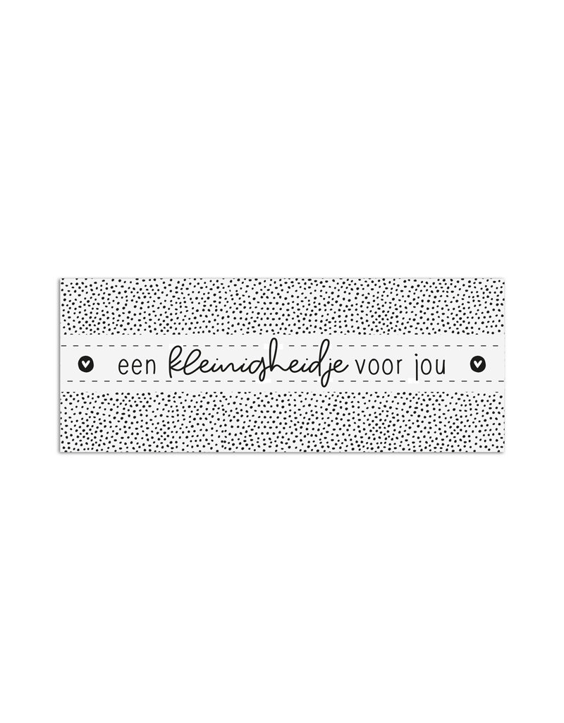 Zoedt Minikaartje met tekst Een kleinigheidje voor jou