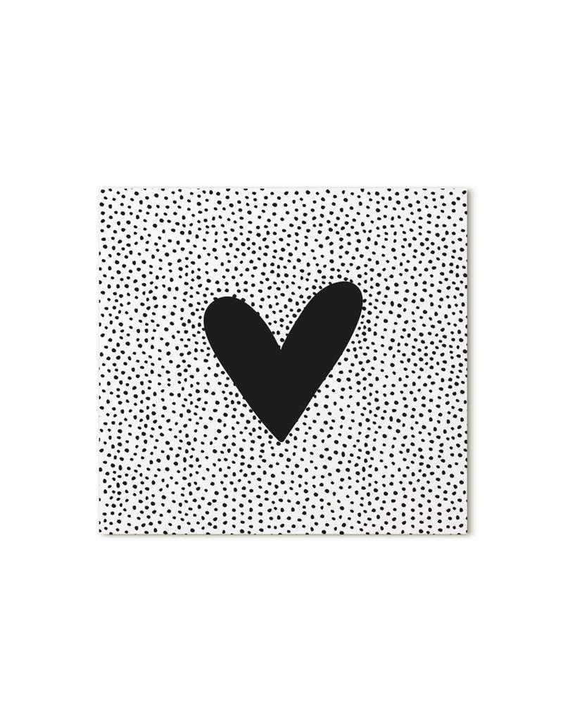 Zoedt Minikaartje met hart en dots patroon