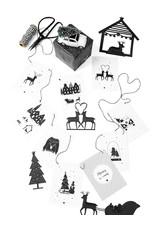 Zoedt Christmas garland - Kerstslinger met 9 kaarten