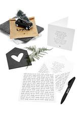 Zoedt Dubbele kerstkaart  met bedrukte envelop  -Kerst gedicht Ik geniet