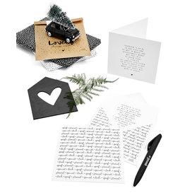 Zoedt Dubbele kerstkaart met envelop - Kerst gedicht Ik geniet