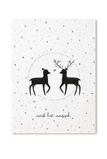 Zoedt Poster A4  Kerst hertjes 'Maak het magisch'