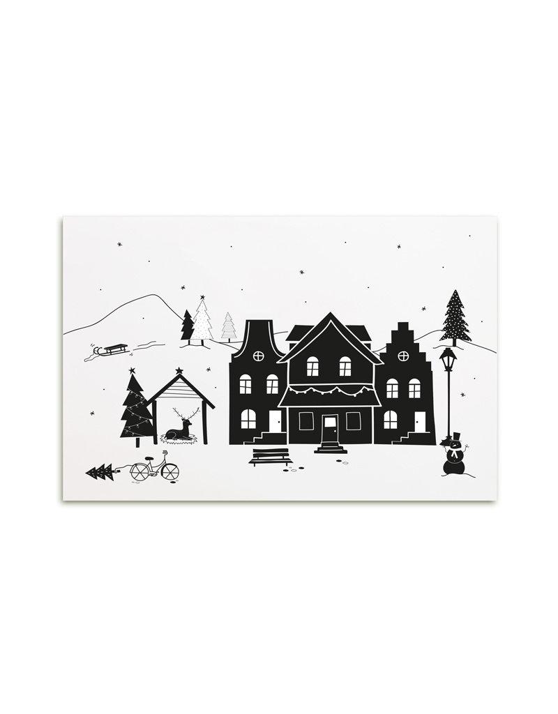 Zoedt Poster A4  Kerst landschap
