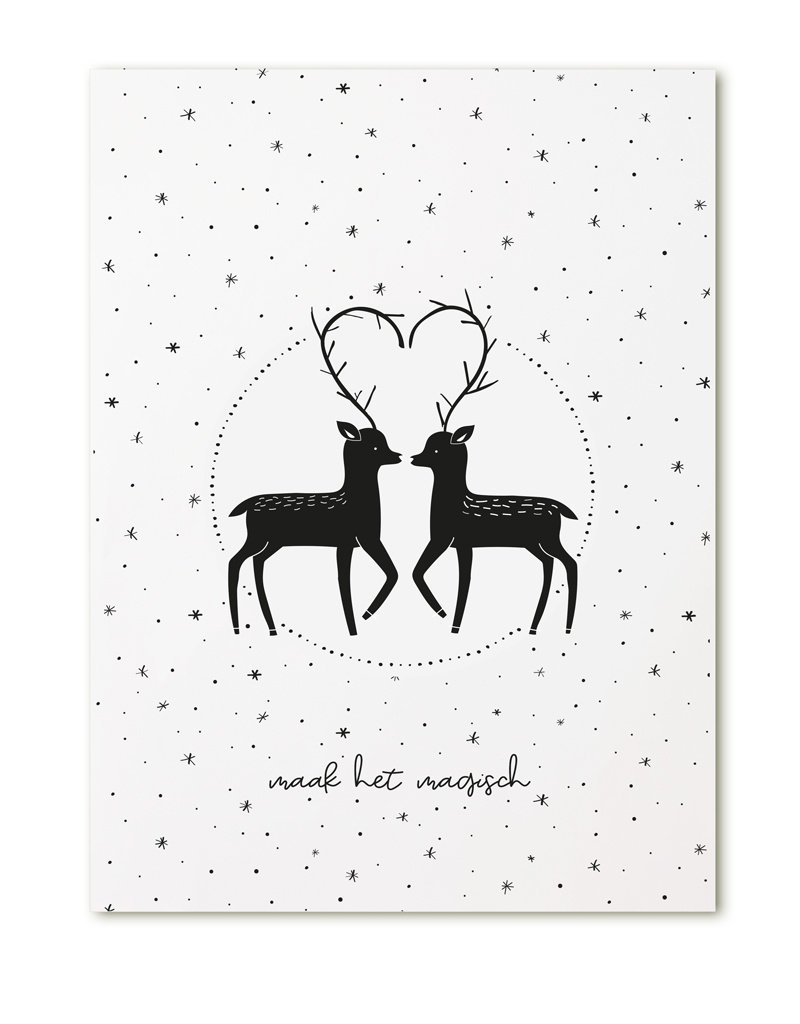 Zoedt Poster A4  Kerst Maak het magisch