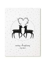 Zoedt Kerstkaart Merry Christmas my deer