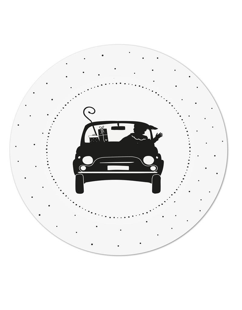 Zoedt Muurcirkel piet in de auto