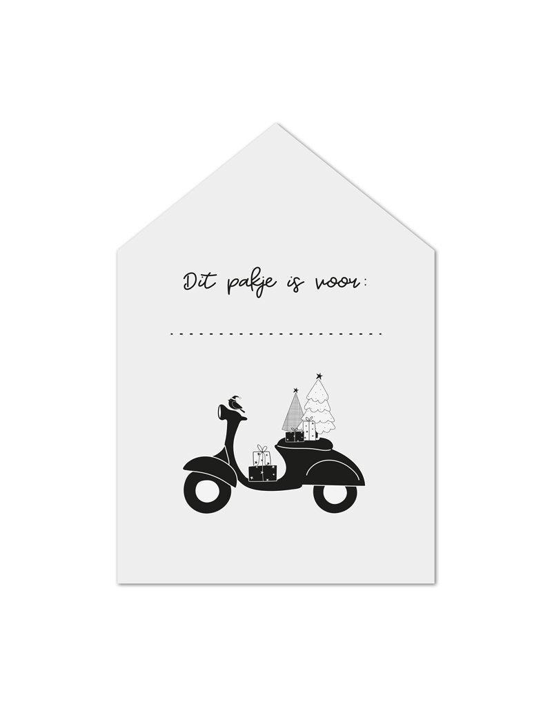 Zoedt Minikaartje wit scooter Dit pakje is voor ...