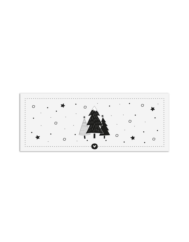 Zoedt Minikaartje wit kerstbomen
