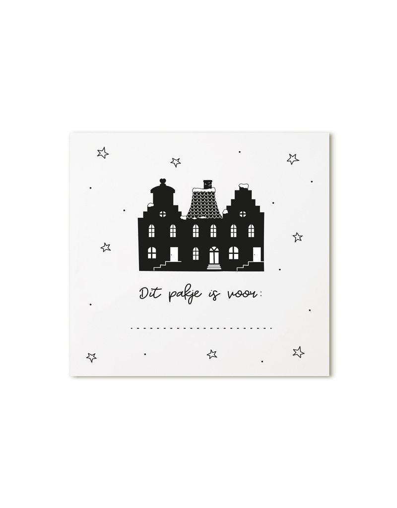 Zoedt Minikaartje wit grachtenpanden Dit pakje is voor...