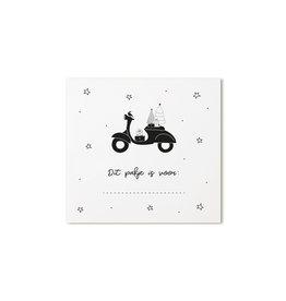 Zoedt Kerst cadeaukaartje scooter Dit pakje is voor...