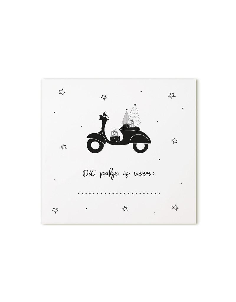 Zoedt Minikaartje wit scooter Dit pakje is voor...
