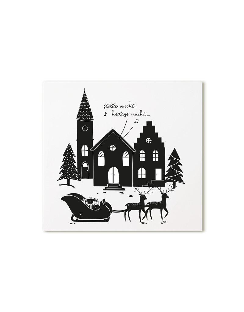 Zoedt Minikaartje wit Stille nacht...