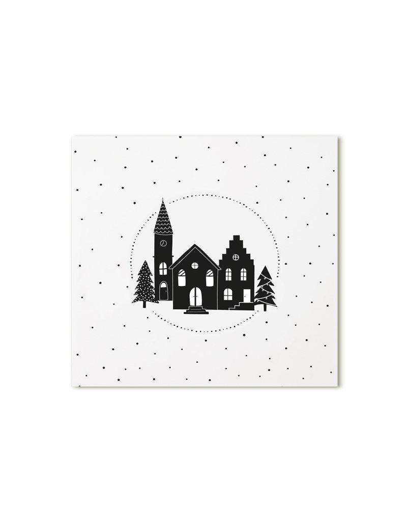 Zoedt Minikaartje wit kerkje
