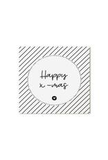 Zoedt Minikaartje wit Happy x-mas