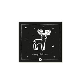 Zoedt Kerst cadeaukaartje zwart Merry Christmas