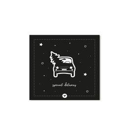 Zoedt Kerst cadeaukaartje zwart Special delivery
