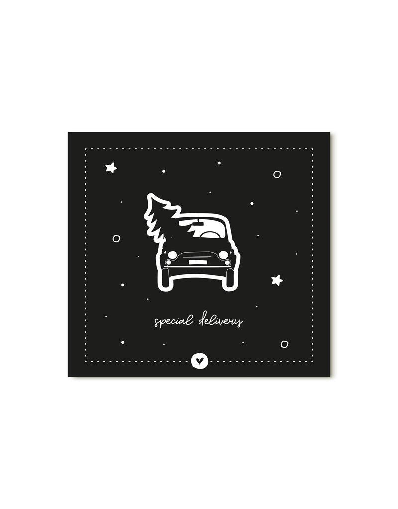 Zoedt Minikaartje zwart Special delivery