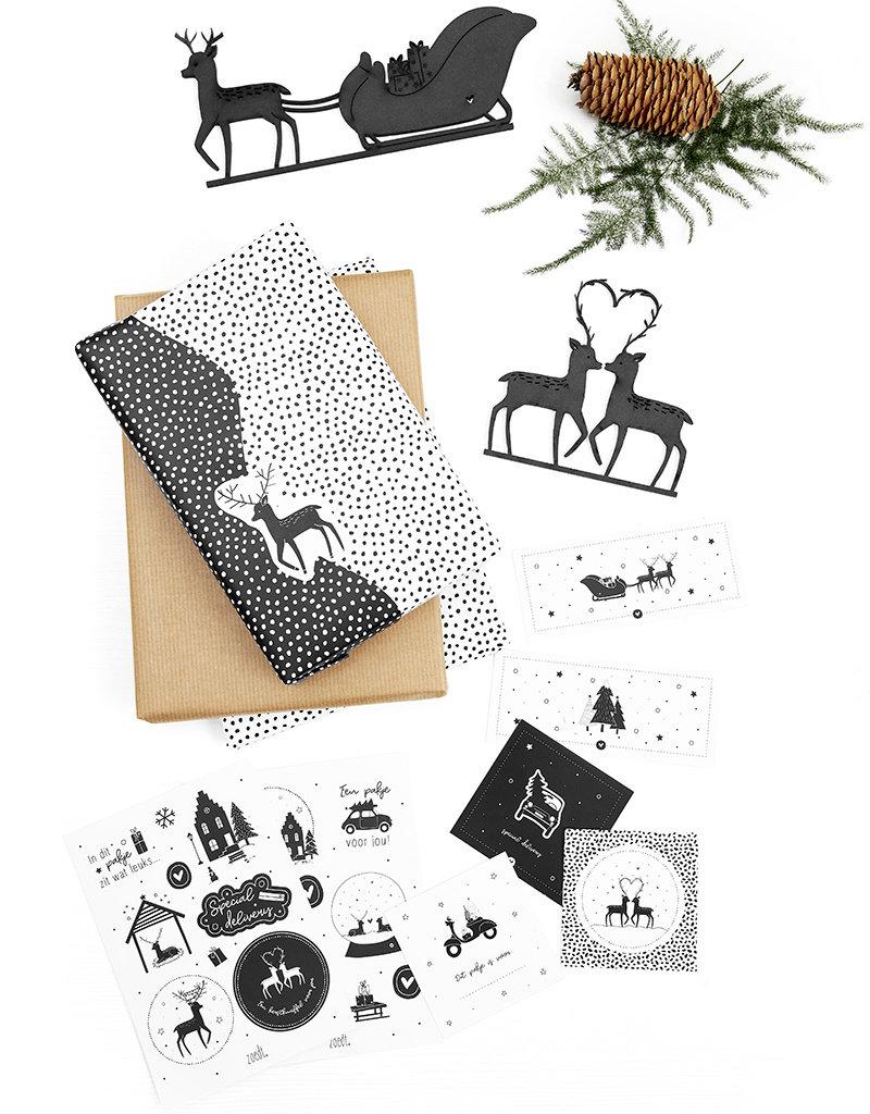 Zoedt Set van 6 kerst cadeaukaartjes
