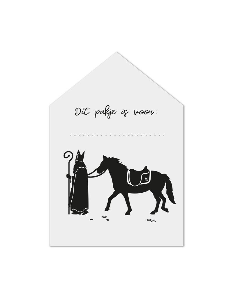 Zoedt Minikaartje wit huisjeSint met paard Dit pakje is voor...
