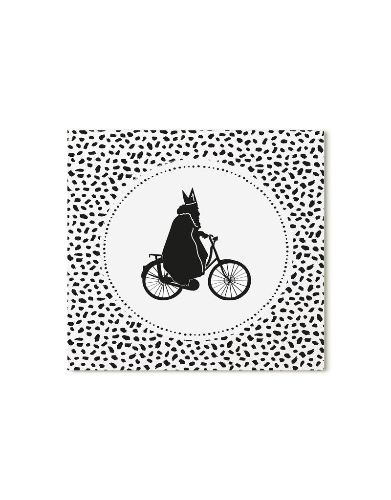 Zoedt Minikaartje wit Sinterklaas dots patroon