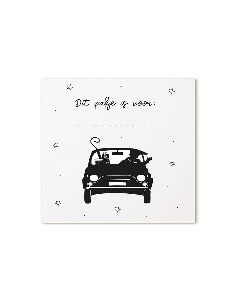 Zoedt Minikaartje wit Pieten auto Dit pakje is voor ...