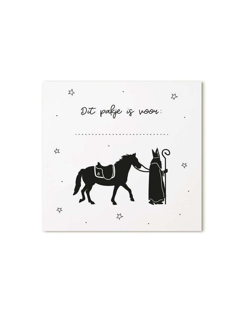 Zoedt Minikaartje wit Sint en paard Dit pakje is voor ...