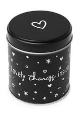 Zoedt Cadeaublikje mat zwart 'Lovely things inside'