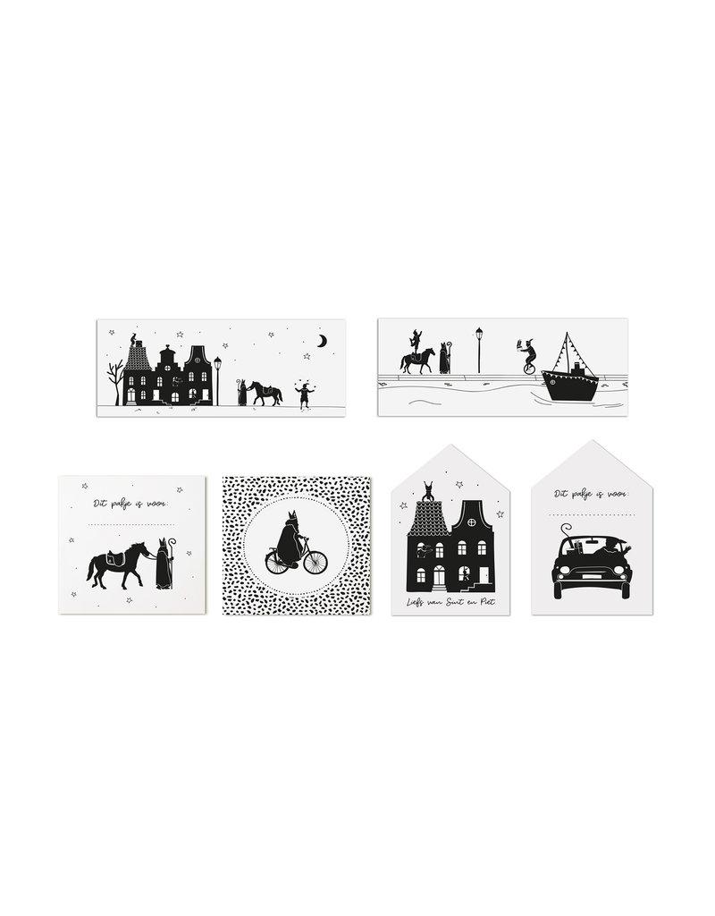 Zoedt Set van 6 cadeaukaartjes van Sinterklaas