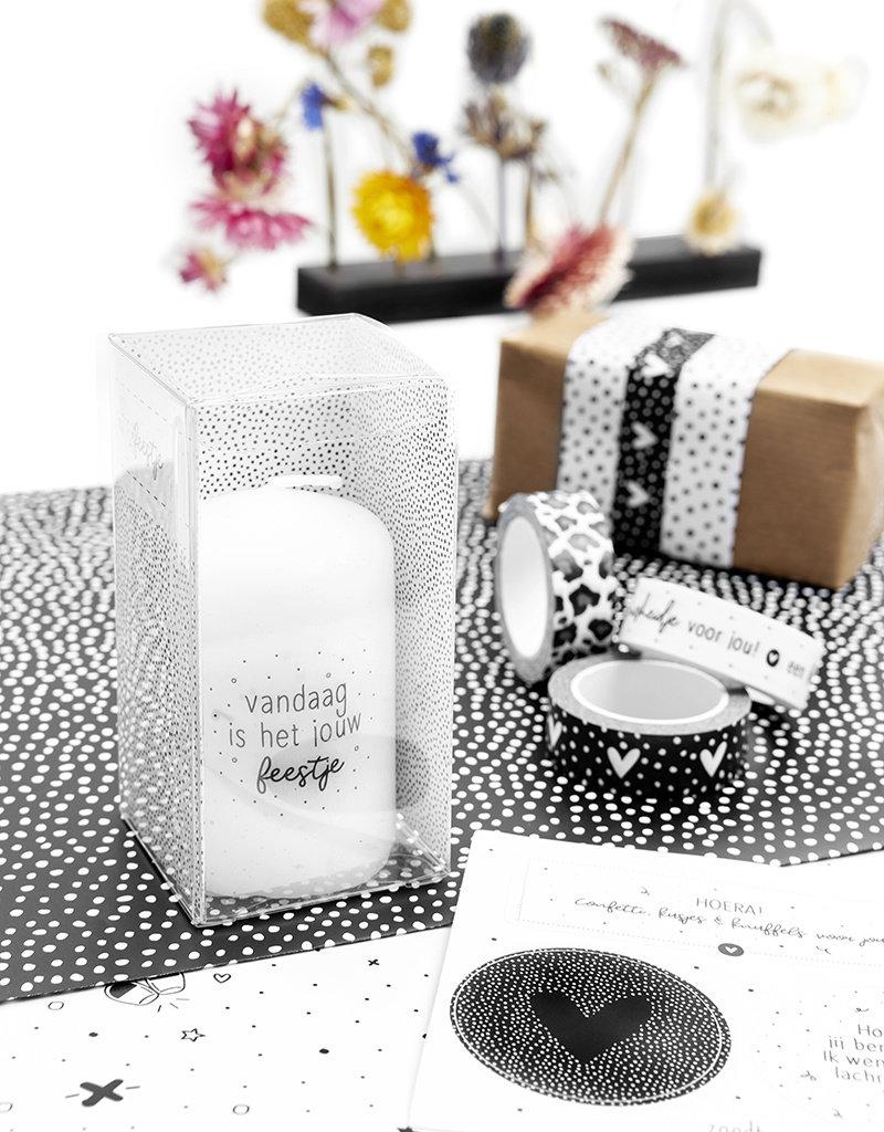 Zoedt Cadeau: mini kaars 'Vandaag is het jouw feestje' in cadeauverpakking