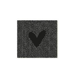 Zoedt Cadeaukaartje vierkant zwart met hartje